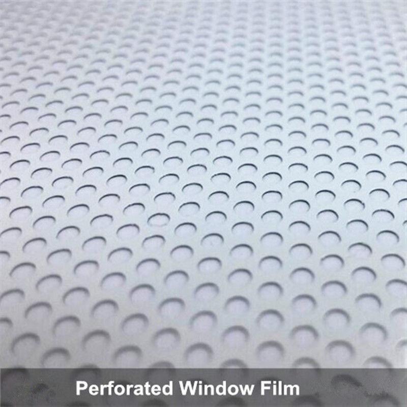 """HOHOFILM 1,37x10 m Rolle Weiß Perforierte One Way Vision Fenster film Print Media Vinyl Auto Fenster Privatsphäre Film 54 """"x 33ft-in Dekor-Folien aus Heim und Garten bei  Gruppe 3"""