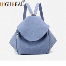 HIGHREAL Teenage Girls Backpack Student Canvas Travel Bag Women Casual School Bags Patchwork Rusksack J180