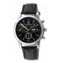 Relogio masculino moda ocasional do negócio dos homens relógio com pulseira de couro falso três-pinos de quartzo relógios de marcas de luxo