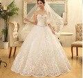 Свадебное Платье vestido noiva белый алмаз 2017 без бретелек принцесса с плеча кристалл кружева одеяние де свадебная Платья
