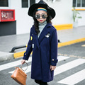 Girl Loose Coat Children Woollen Overcoat Thickening Long Fund Autumn And Winter  New Pattern Coat