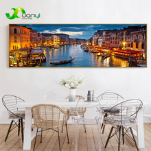 Single Landscape Prints Wall Art Venice Landscape Paintings Home Decor Canvas Pictures For Living Room Modern Spray Unframed цена 2017