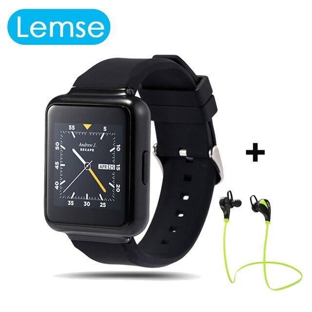 "Lemse Q1 Smart Watch Android 5.1 OS MTK6580 Quad core 512 МБ/4 ГБ 1.54 ""Экран Поддержка Wi-Fi GPS 3 Г Nano Sim Google Play SmartWatch"
