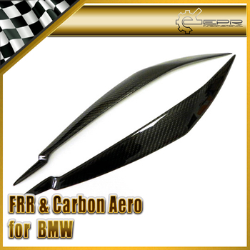 Car Styling For BMW E71 X6 L-Style Carbon Fiber Headlight Eyebrow Eyelid