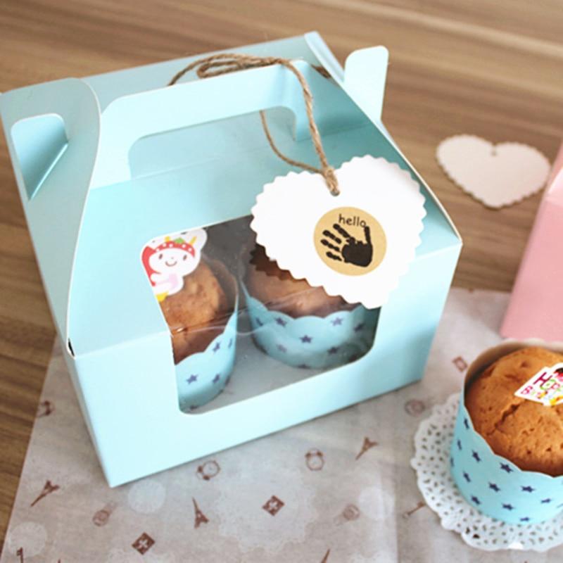 10 komada Plavo / roze 4 šalice kolača s donjim - Za blagdane i zabave - Foto 2