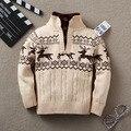 Nuevo otoño invierno niño infantil de dibujos animados bebé suéter niña niña suéter suéter de cuello de tortuga bebé prendas de vestir exteriores