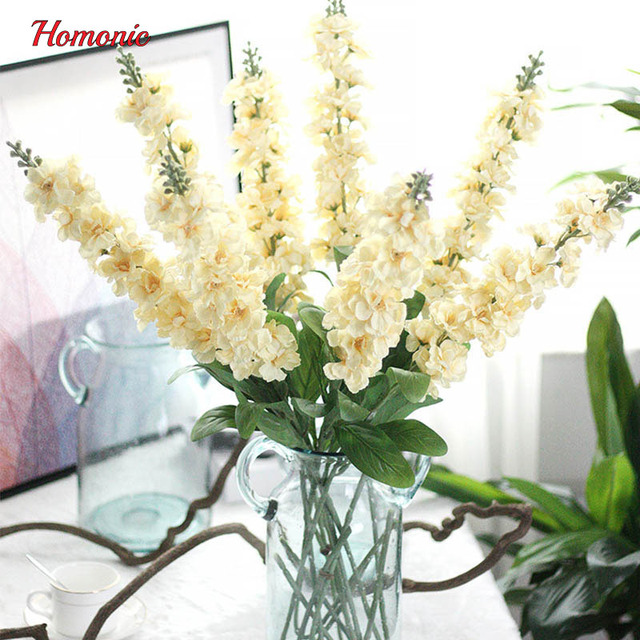 90cm Delphinium silk flower artificial Europe Style wedding hyacinth ...