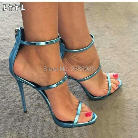 WOMENS LADIES PLATFORM CAGED BUCKLE SANDALS HIGH HEELS PARTY SHOES SIZE