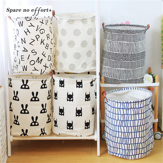 Laundry Basket Dirty Cloth Cartoon Castle Baby Clothes Baskets