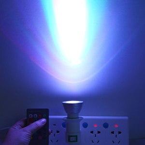 Image 5 - 5W 7W 10W RGB Led Spot light Bulb Bubble Ball Lamp E27 E14 GU10 AC85 265V Dimmable Magic Holiday RGB Lighting+Remote Control