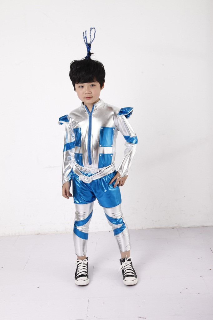 Robot Retro Space Future Droid Toy Cyborg Fancy Dress Halloween Child Costume