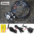 7000Lm Led lighting Head Lamp T6+2R5 LED Headlamp Headlight Camping Fishing Light +2*18650 battery+Car EU/US/AU/UK charger+1*USB