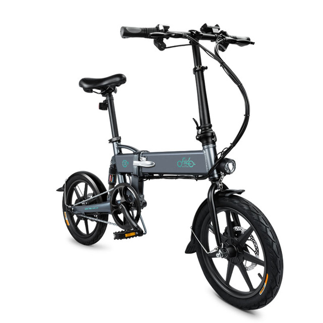 Fiido D2 Folding Electric Bicycle 2 Wheel Electric Bicycle With Headlight 250W Adults Electric Scooter