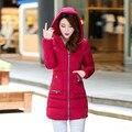 Abajo chaqueta 9 Colores Mujeres de la Chaqueta de Wadded Ropa de Invierno Extraíble Con Bolsillos, de Algodón acolchado Parka, 3XL Parka Femme, capa TT1650