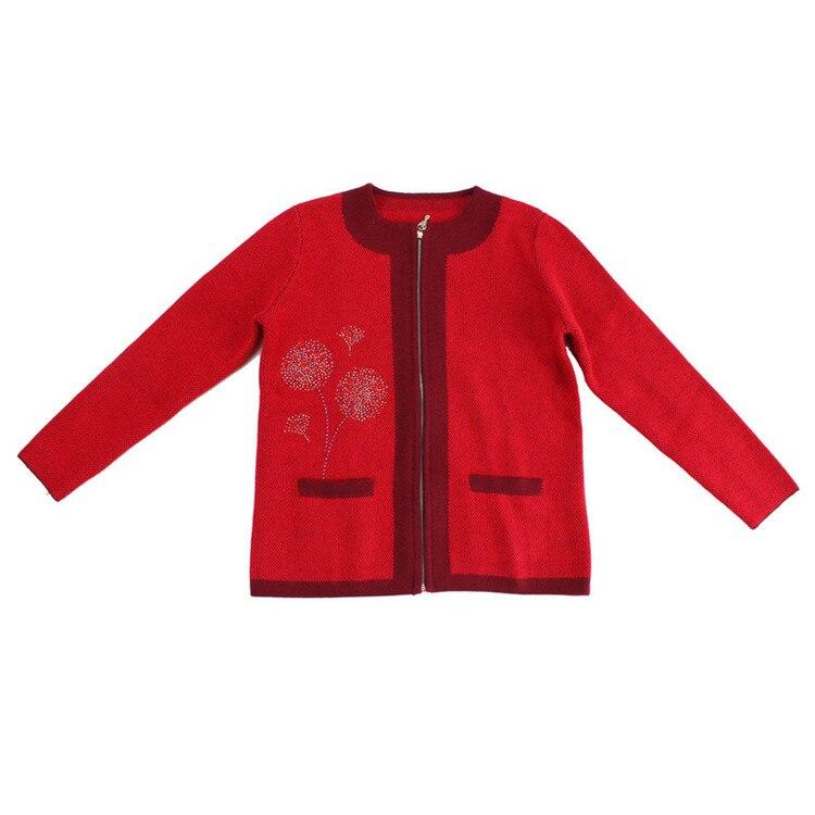 100 Chèvre En 3xl Chandail O M Épais Cachemire De Tricot Couleur 3 cou Dot Red red Mignon Zipper rose Blue Cardigan Rouge Femmes Rose Mode rrqtdRAxw