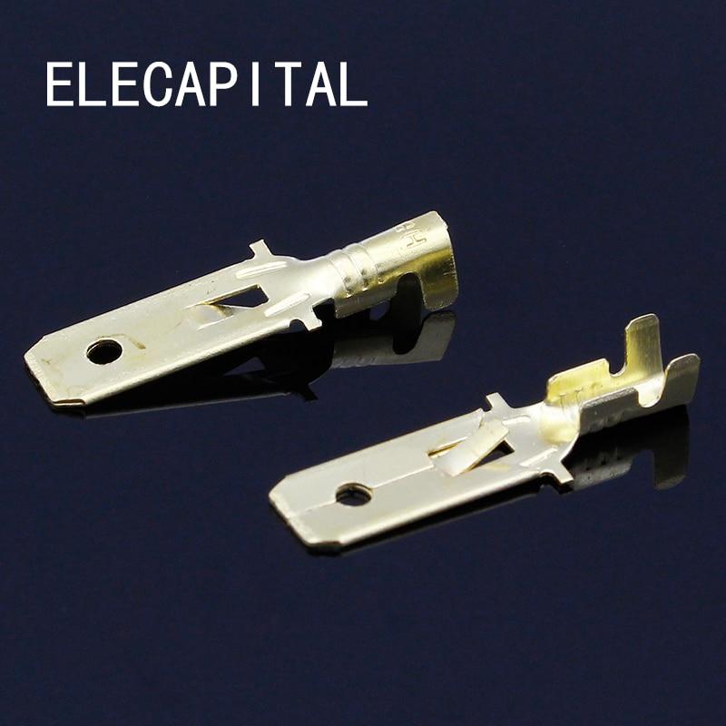 20pcs/lot 6.3mm Copper Male Wire Splice Crimp Terminal L15 Spade Connector Free Shipping free shipping 20pcs lot ktb778 b778 original authentic