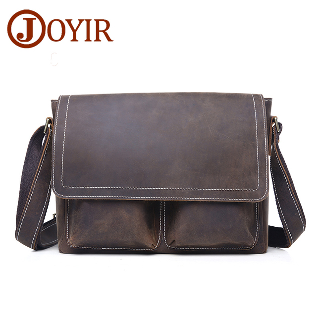 65a42a5d19 Designer Vintage Messenger Bag Genuine Leather Men Bag Cow Leather  Alligator Crossbody Bag Famous Brand Male Shoulder Bag