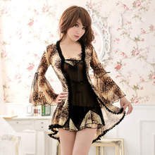 2016 New Fashion Women Sexy Lingerie Sets Skirts Sleepwear Sex Nightdress Nightgown Eroticas Pajamas Babydolls & Chemises Dress
