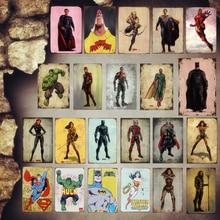 Wonder Woman Plaque Vintage Metal Tin Signs Home Bar Pub Decorative Metal Plates Super Hero Wall Stickers Iron Art Poster MN5