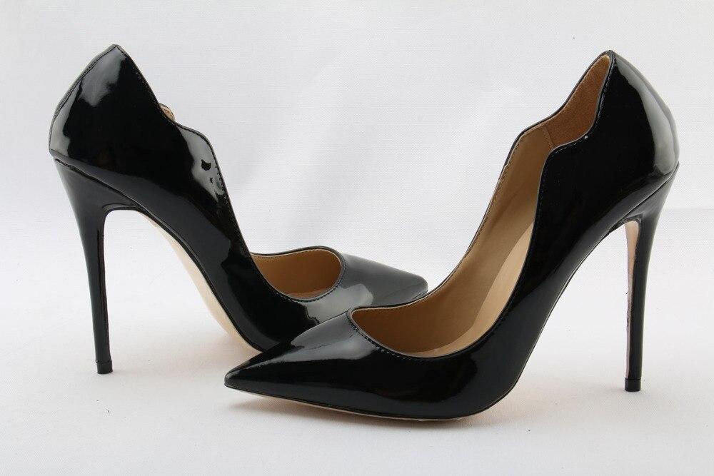 Mode Kleid Flache Cut Größe Spitze Cm Frauen Sexy High Party 42 12cm 12 Schuhe Heels Sonder Zehen Damen Stiletto Pumpen wYp6qZx