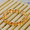 iVeeka 100% Natural Stone Citrine Strand Bracelet for Lover's Lucky Gifts