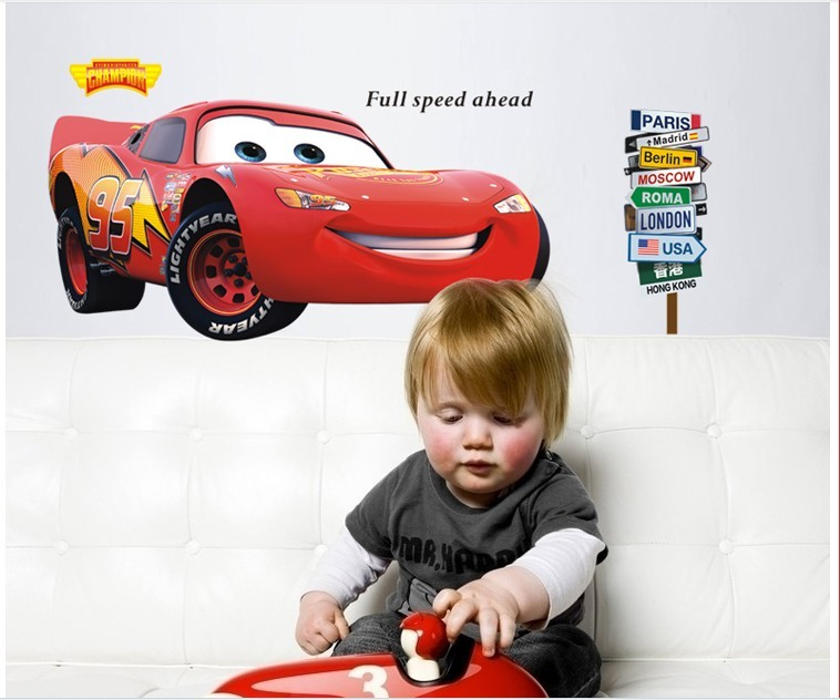 3D Cars Lightning Mcqueen Wall Sticker For Kids Bedroom Vinyl Removable  Decal Adesivo De Parede Home Decor In Wall Stickers From Home U0026 Garden On  ... Part 63