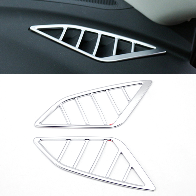 For Mazda 3 Axela 2014 2015 2016 Chrome Front Dashboard Air Condition Vent Trim Outlet Cover Dash Bezel Garnish Frame Decoration