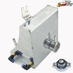 Srebrny uniwersalny samochód Auto zbiornik do pobierania oleju aluminium wyścigi motocykli zbiornik może filtracji oleju zbiornik bez czujnika