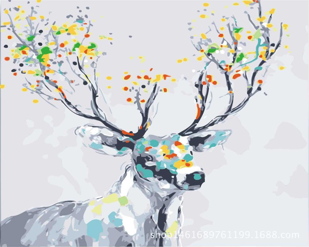 Lukisan Digital DIY Lukisan Dengan Nomor Mewarnai Pabrik