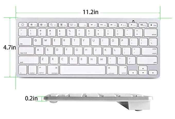 الترا سليم بلوتوث لوحة المفاتيح اللاسلكية آيفون باد أندرويد هاتف الكمبيوتر اللوحي وغيرها من الأجهزة التي تدعم بلوتوث