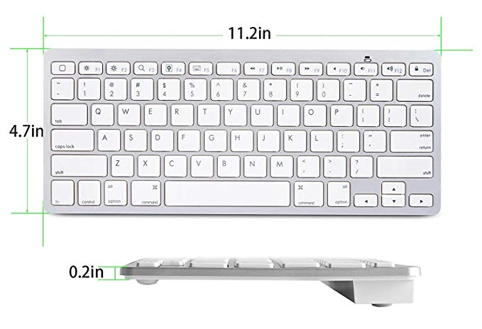 Image 3 - Ultra Slim Bluetooth wireless keyboard for Iphone Ipad Android Tablet PC Phone and other Bluetooth enabled devicesKeyboards   - AliExpress