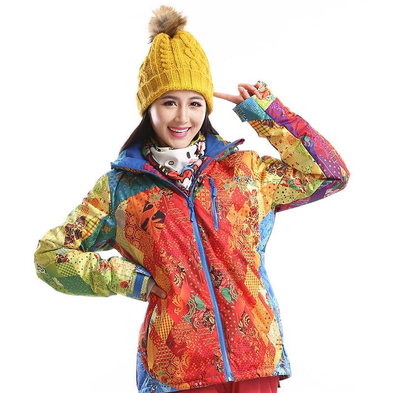 ФОТО Dropshipping Ourdoor New Brand Waterproof Windproof Ski Jacket Winter Sports Skiing Camping Hiking Snowboard ski coat women