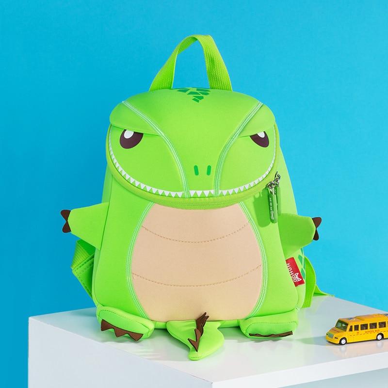 1cbdd76505bd ילדים והתינוק   s תיקים NOHOO Orange Green Dragon Kids Baby Cartoon  Waterproof School Bags 3D Animals Backpack For Girls Boys Cute Dinosaur  School Bags