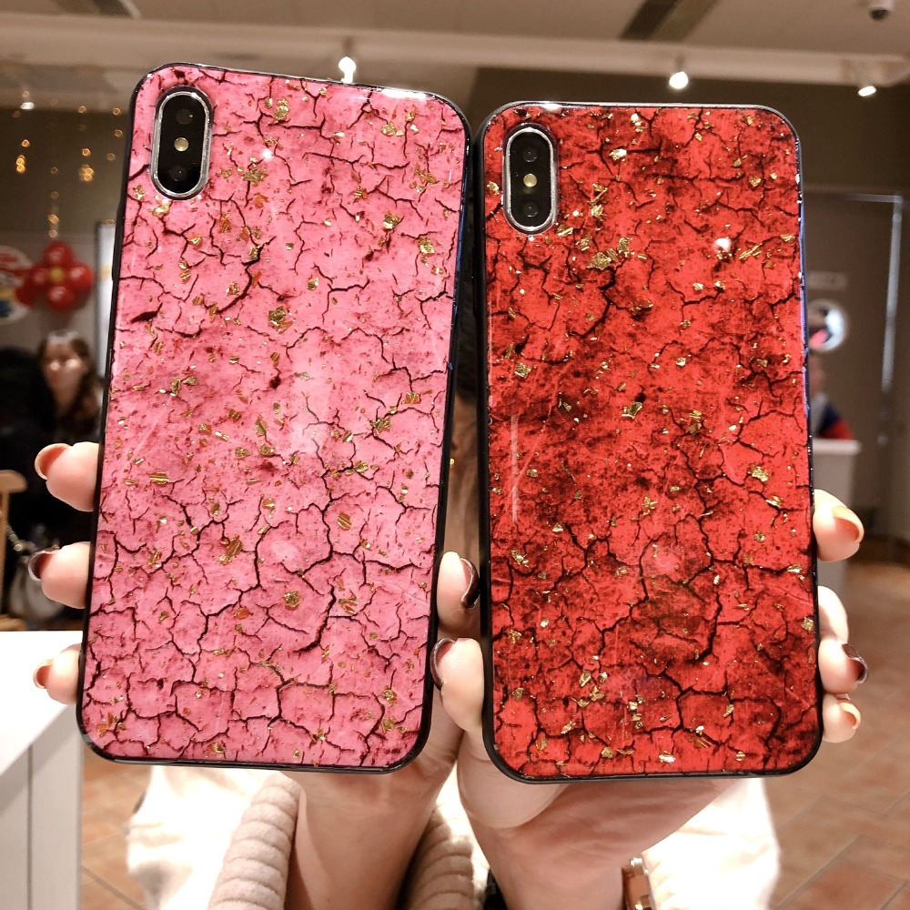 Axbety sFor iPhone 6s 7 8 Plus XS MAX XS fashion Glitter Marble cvoer For iPhone XR MAX Soft Silicone Cover For iPhone 8