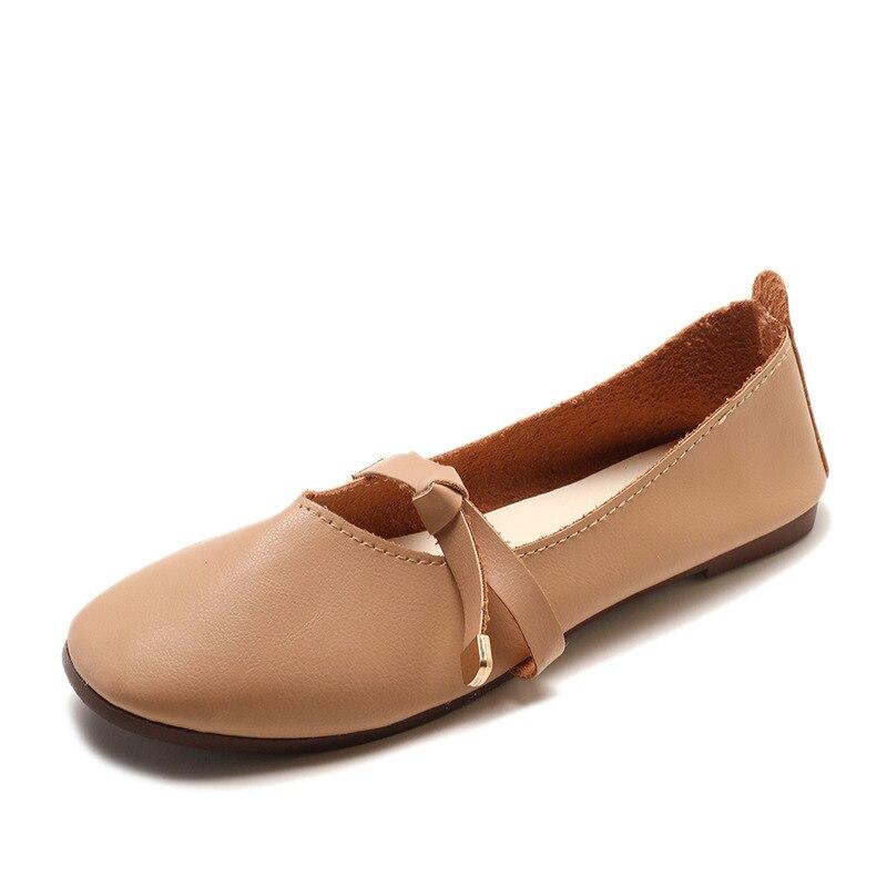 apricot Chaussures De Bout Luxe Femme Beige D'hiver Carré Mocassins Appartements Marque Plates 2018 Automne Mode Femmes qZxEwTWfp