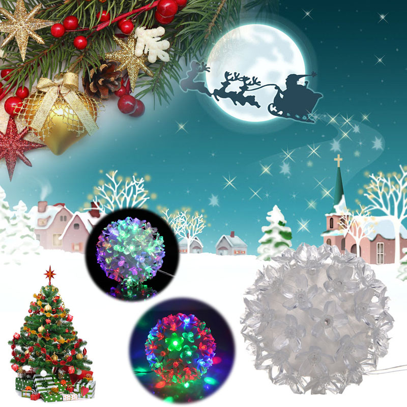 led christmas tree lights decoration flower ball fairy lights wedding garden party christmas decoration 50pcs flowers - Cheap Christmas Trees Online