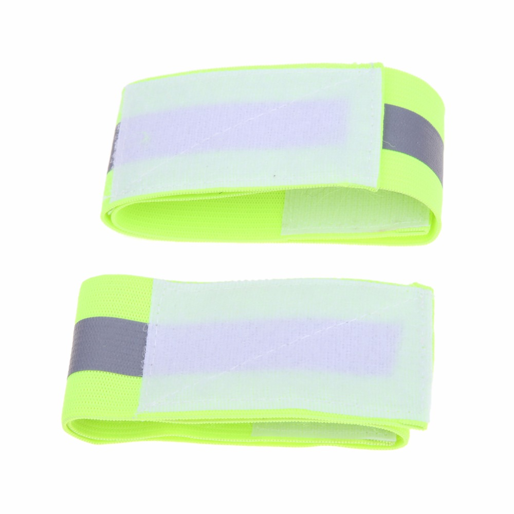 Ultralight Reflective Sport Protable Bicycle Cycling Safety Leg Pants Band Clip Bicycle Gaiter Strap Bandage for Night Running