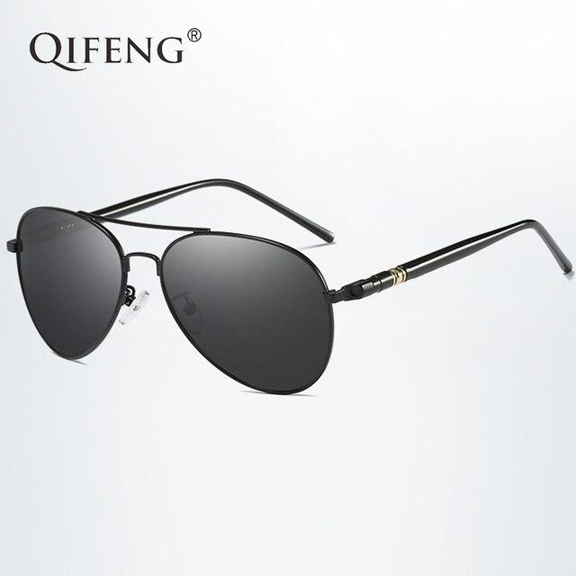 QIFENG Piloto Polarizada Óculos De Sol Dos Homens Marca de Moda Motorista  Óculos de Sol Da 2778be31a9