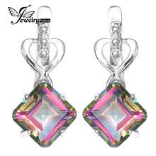 Jewelrypalace 8ct радуга своих мистик topas серьги хооп настоящее стерлингового серебра 925 свадебный подарок женщины ювелирные изделия