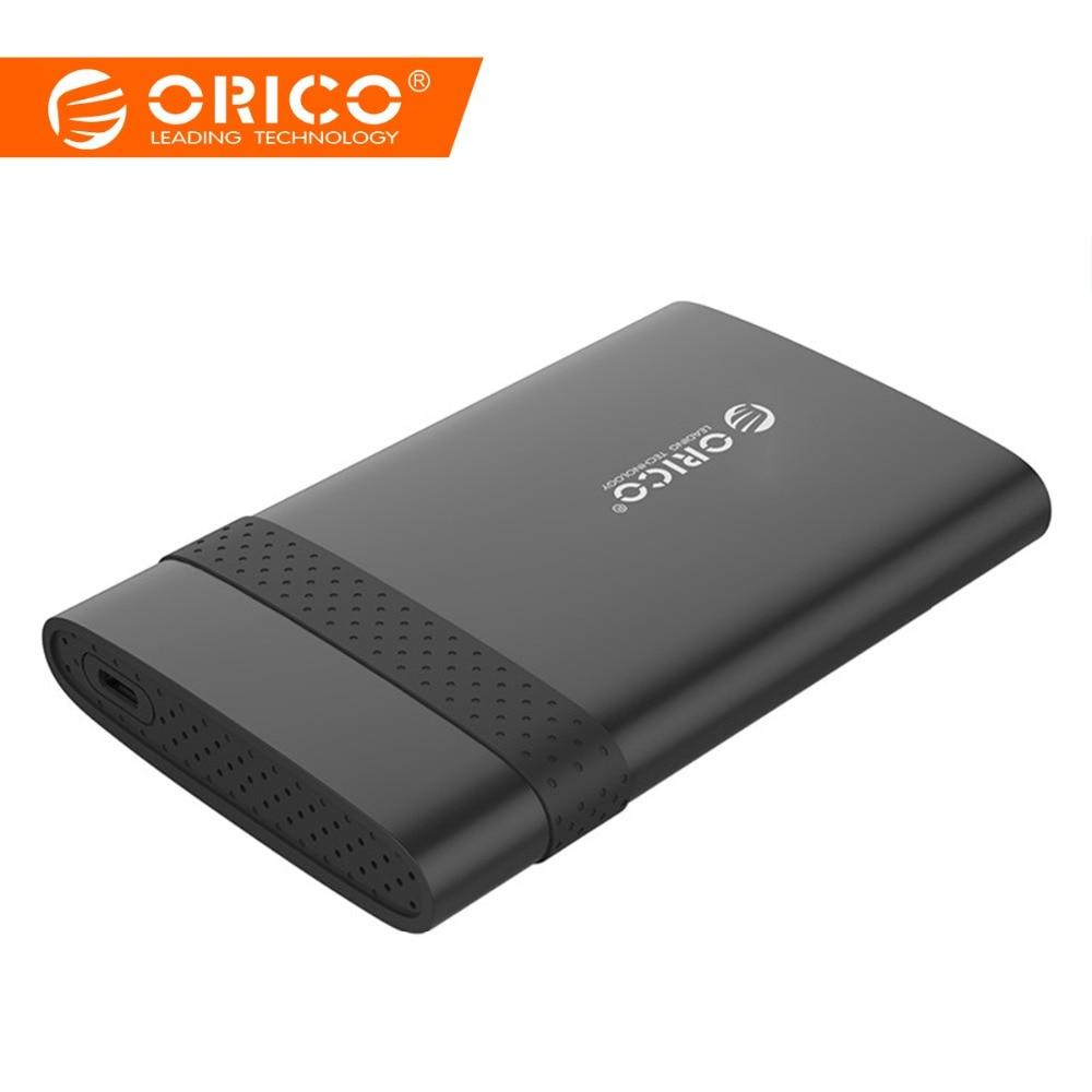 ORICO 2,5 pulgadas HDD caso USB 3,1 Gen 1 tipo-C a SATA 3,0 Super velocidad HDD caja herramientas carcasa Disco Duro adaptador (2538C3)