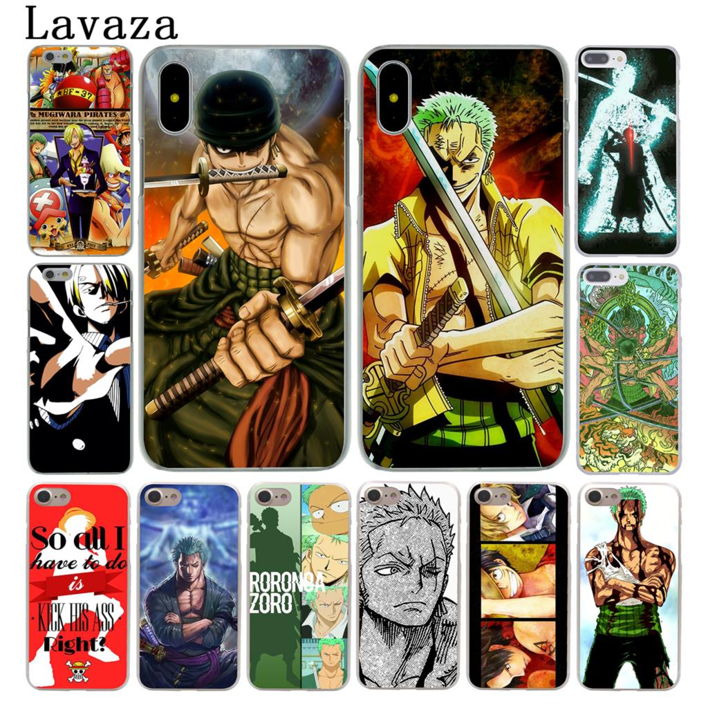 Lavaza One Piece Roronoa Zoro Hard Coque Phone Shell Case for Apple iPhone X 8 7 6 6S Plus 5 5S SE 5C 4 4S 10 Cover