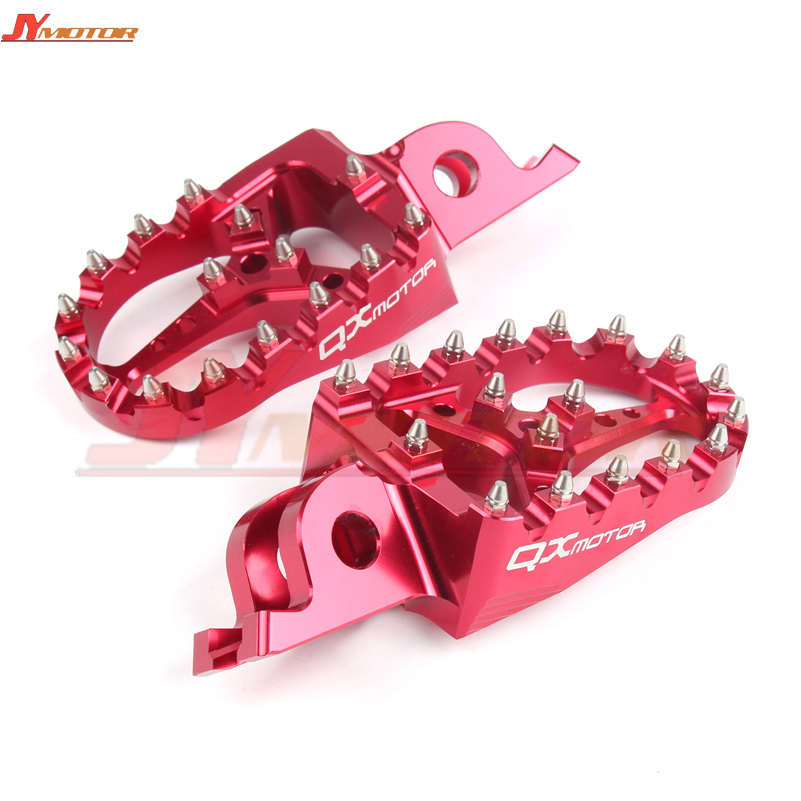 CNC Billet MX Foot Pegs Rests Pedals Footpegs For crf450r crf 450 crf250r crf250x CR125 250