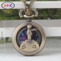Мини-маленький принц кварцевые карманные часы Старинные бронзовые труба Аравия часы мужчин и женщин вскользь часы математика X030