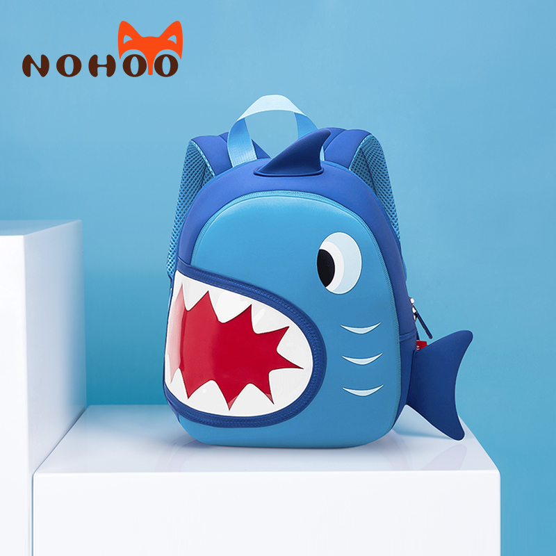 NOHOO Toddler Kids Shark Backpack 3D Waterproof Children Pre School Bags for Girls Boys Baby Travel Bookbag Mochila for 2 6 Year in School Bags from Luggage Bags