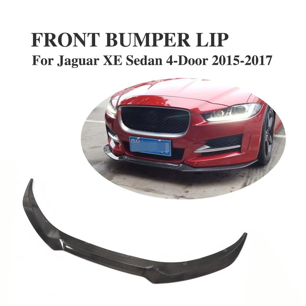 Carbon Frontschürze Lip Schutz Kinn für Jaguar XE Limousine 4-tür 2015-2017 Auto...