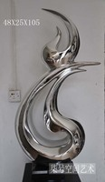 Cheap silver ornaments abstract / modern sculptures / club decorative ornaments abstract model room upscale furnishings