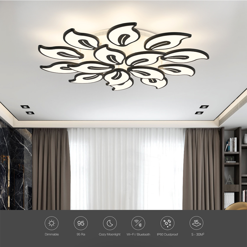 New Modern Led Acrylic Brushed Coffee Circle Lamp Chandelier Lights For Dining Room Bed Room Deco Ceiling Fixtures With A Long Standing Reputation Lights & Lighting Ceiling Lights & Fans