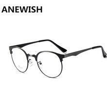7d66bb4173d51 ANEWISH Óculos de Armação de Metal Mulheres Óculos de Marca Mulheres Homens  Rodada Do Vintage óculos de Miopia Quadro Quadros Pr..