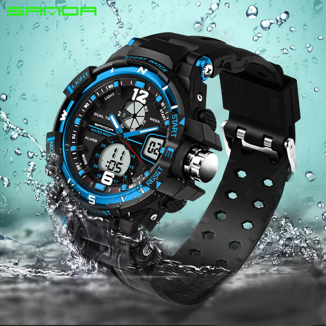 2018 Sale New Sanda Digital Led Watches Military Cool Car Lovers Sport Big Dial
