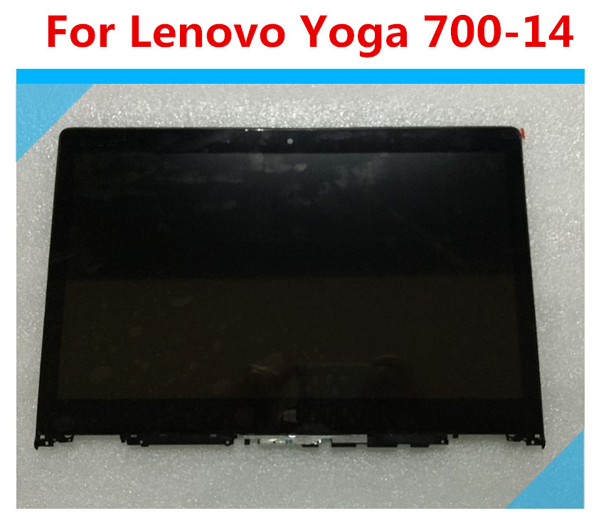 14 for Lenovo Yoga 700-14ISK 80QD LED LCD Screen Digitizer Bezel Assembly with bezel laptop touch lcd screen digitizer assembly display for lenovo yoga 700 14